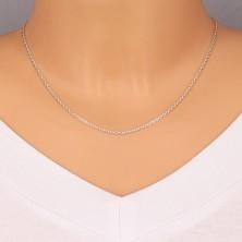 925 Silber Kette - ovale Glieder, rechtwinklig verbundene Glieder, 1,7 mm