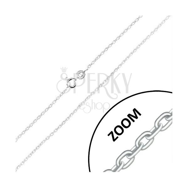 Kette aus 925 Silber - rechtwinklig verbundene ovale Glieder, 1,5 mm