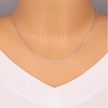 925 Silber Kette - ovale Glieder in Reihen verbunden, abgeschnittene Kanten, 2,7 mm