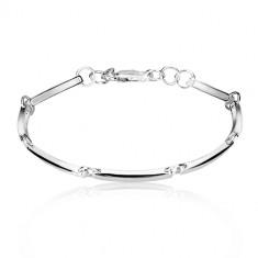 Armband aus 925 Silber - schmale glänzende Glieder durch Ringe verbunden