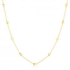 Halskette aus 14K Gelbgold – zarte Kette mit glänzenden Würfeln