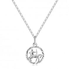 Halskette aus Silber 925, Kette und Anhänger des Sterzeichens SCHÜTZE