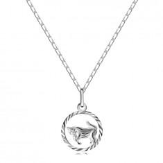 Halskette Silber 925 - Kette und Sternzeichen STIER Anhänger