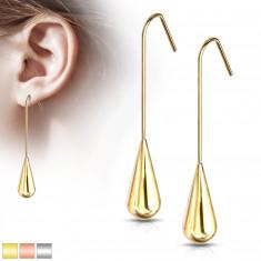 Ohrringe aus Chirurgenstahl - ein Tropfen hängt an einem Afrohaken, verschiedene Farben