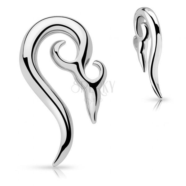 Ohr Piercing aus Chirurgenstahl - Spirale mit Verzierung