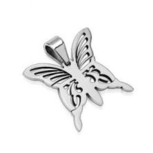 Schmuckanhänger für Kette - silberner Schmetterling