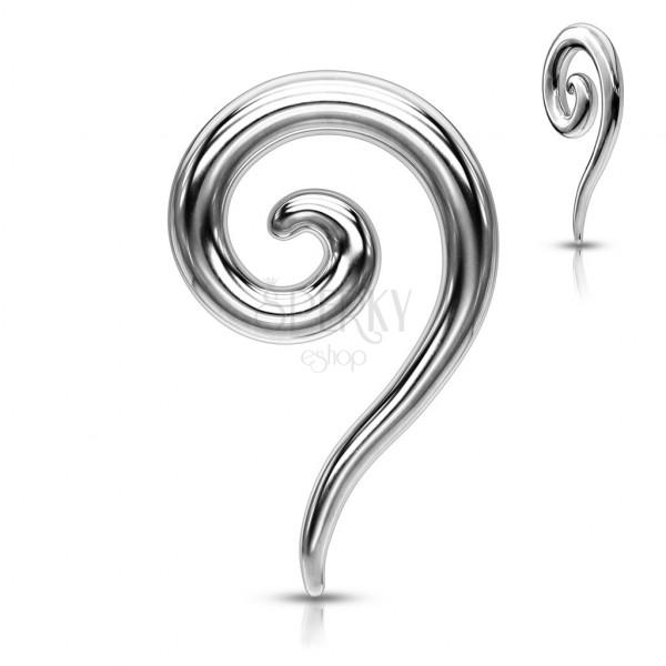 Ohrpiercing aus Stahl - glänzender spiralförmiger Expander