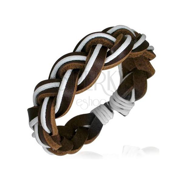 Кожаные браслеты.  Главная.  Многорядный браслет из кожи - FBK385.
