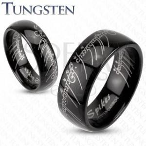 Tungstenring Schlichter Trauring In Schwarz Herr Der Ringe