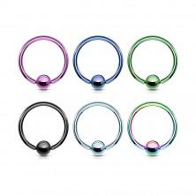 Titan Piercing - ein Kreis und eine glänzende Kugel in der Mitte